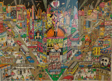 Great White Way, Broadway  3-D 1991 Limited Edition Print - Charles Fazzino