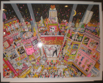 New Year on Broadway 3-D 1996 New York Limited Edition Print - Charles Fazzino