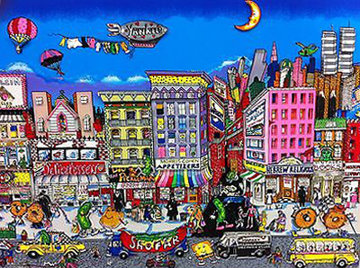 From Fishes and Knishes 3-D New York 1994 Limited Edition Print - Charles Fazzino