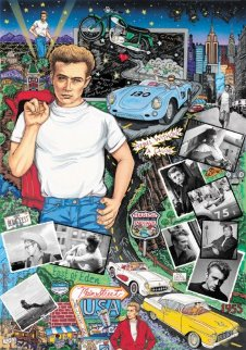 Forever James Dean 3-D Embellished Limited Edition Print - Charles Fazzino