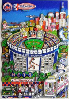 Who Let the Mets Out? 3-D 1994 Limited Edition Print - Charles Fazzino