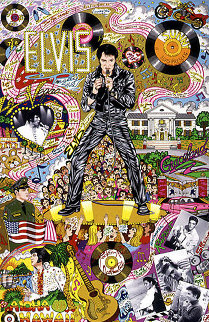 Remembering Elvis 1999 3-D Limited Edition Print - Charles Fazzino