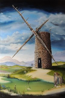 Highland Mill 2014 36x24 Original Painting - David Fedeli