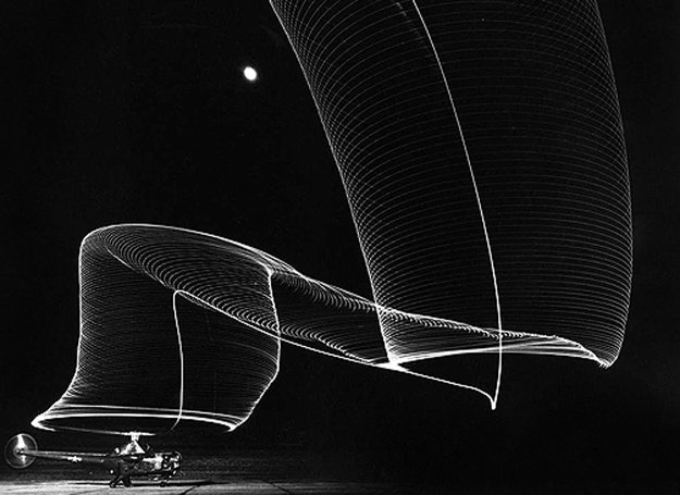 Navy Helicopter Or Pattern By Helicopter Wing Lights 1949