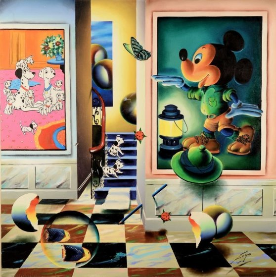Homage to Mickey Mouse 2009 40x40
