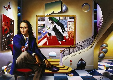 Mona With Chagall  2005 Limited Edition Print by (Fernando de Jesus Oliviera) Ferjo
