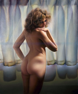 Untitled (Nude Model) 1980 48x40 Original Painting - (Fernando de Jesus Oliviera) Ferjo