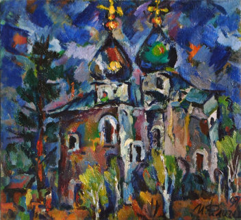 Church 1997 19x20 Original Painting - Ivan Filichev