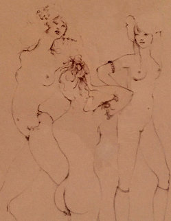 Three Waifs 1970 Limited Edition Print - Leonor Fini