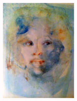 Visage Blue 1986 Limited Edition Print - Leonor Fini