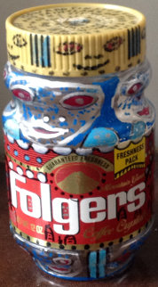 Folgers Coffee Container 1991 Sculpture - Howard Finster