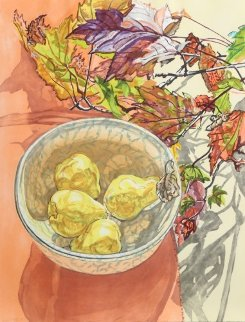 Still Life With Pears Limited Edition Print - Janet Fish
