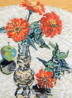 Apples And Zinnias 1995 Limited Edition Print - Janet Fish