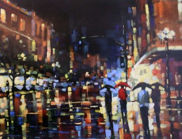 Evening Out 2002 48x60 Original Painting - Michael Flohr
