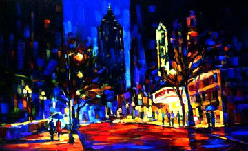 Night At the Fox 2005 Embellished Limited Edition Print - Michael Flohr