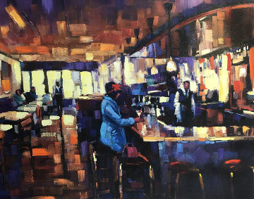 Sweet Basil Embellished 2006 Limited Edition Print - Michael Flohr