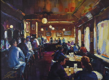 Happy Hour 2008 Embellished Limited Edition Print - Michael Flohr
