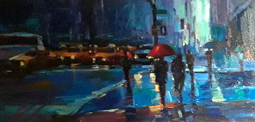 New York City 2008 23x35 Original Painting - Michael Flohr