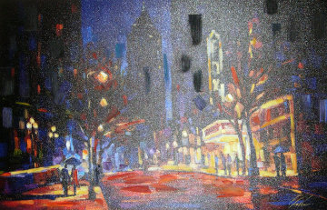 Night at the Fox Embellished Limited Edition Print - Michael Flohr
