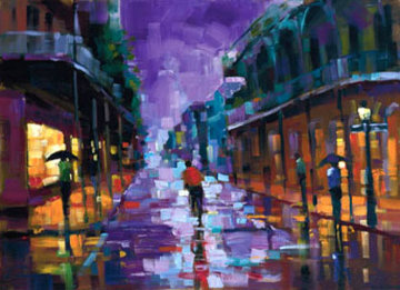 Royal Street, New Orleans Embellished 2004 Limited Edition Print - Michael Flohr