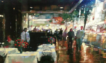 Night Life 2004 San Diego, Ca Embellished Limited Edition Print - Michael Flohr