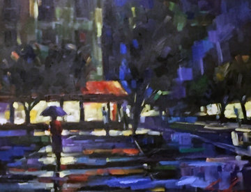 Untitled Painting  2005 34x39  Original Painting - Michael Flohr