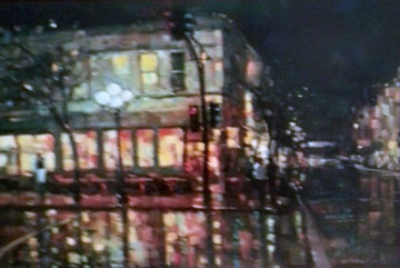 City Reflections 2005 Embellished Limited Edition Print - Michael Flohr
