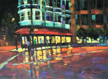 Coppolas 2014 46x36  Original Painting - Michael Flohr