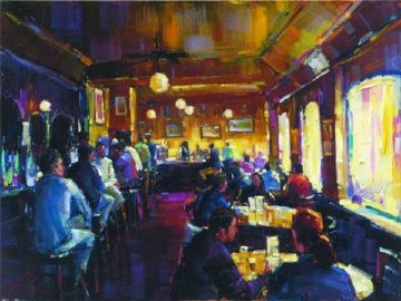 Happy Hour Enbellished  Limited Edition Print - Michael Flohr