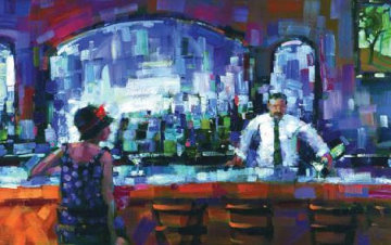 Shaken Not Stirred Embellished 2009 Limited Edition Print - Michael Flohr
