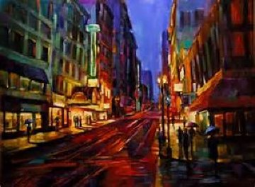 Streets of Gold Embellished 2007 Limited Edition Print - Michael Flohr