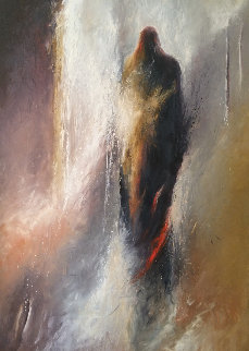 Shamanic Passage 16 1989 66x48 Original Painting - Larry Fodor