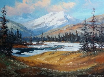 Untitled Landscape 24x30 Original Painting - Caroll Forseth