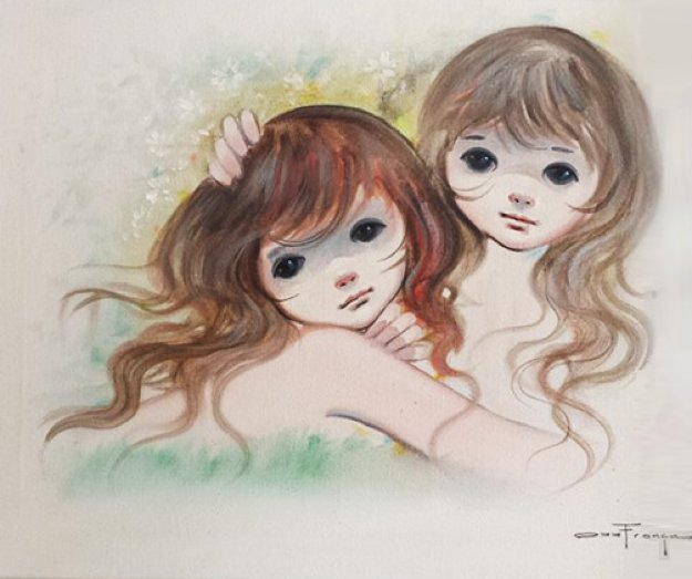 Big Eyed Girls 1960 29x34