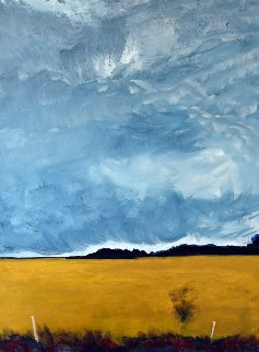Field, Oakwood, Ontario 24x15 Original Painting - David Francey
