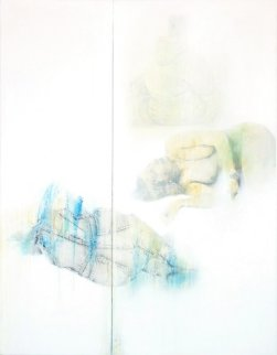 No! ... VII (diptych) 47x36 Original Painting - Francisco Ferro