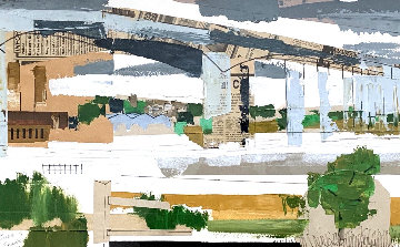 Untitled Collage 1961 24x32 Works on Paper (not prints) - Jane Frank