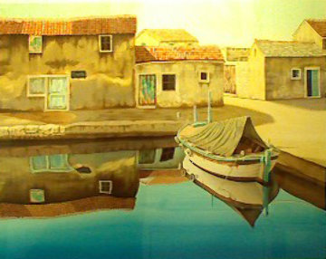 Adriatic Village AP Limited Edition Print - Frane Mlinar