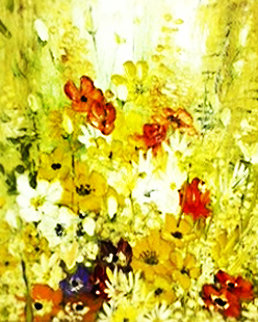 Petite Bouquet 1971 42x36 Original Painting - Liliana Frasca