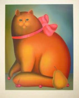 Golden Cat Limited Edition Print - Igor Galanin