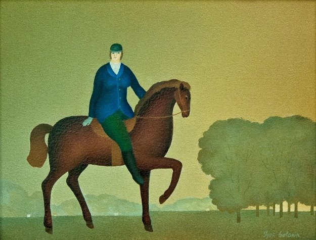 Small Horse And Rider 2016 11x14