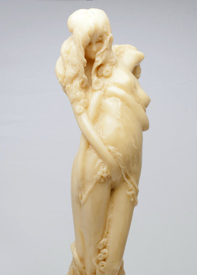 Two in Embrace Epoxy Sculpture Unique, 1984 18 in