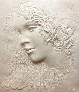 Angela Cast Paper Sculpture 1981 35 in Limited Edition Print - Frank Gallo