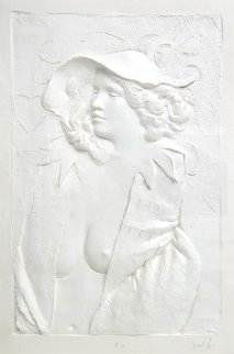 Actress Cast Paper Sculpture 1980 64x46 Limited Edition Print - Frank Gallo