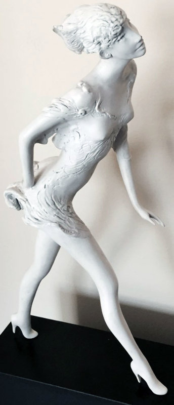 Woman Walking Bronze Sculpture 1987