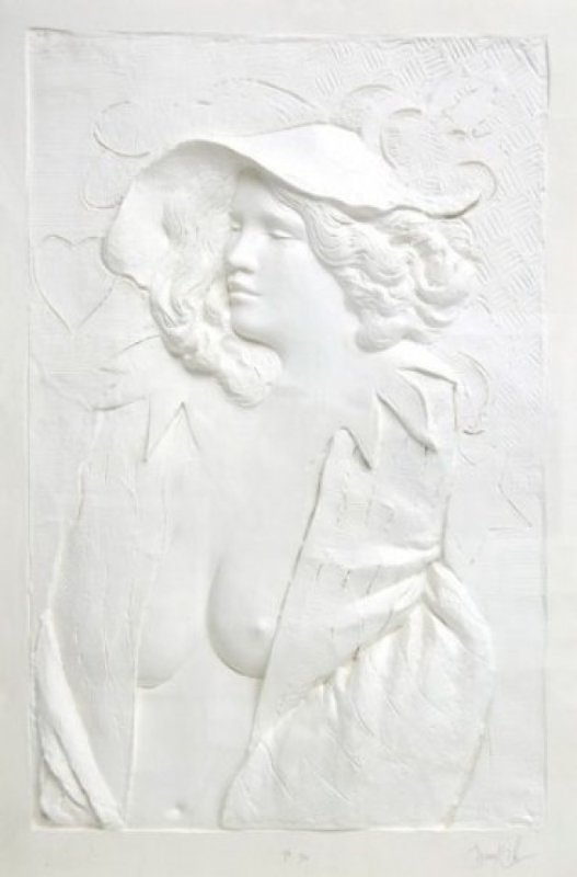Actress Cast Paper Sculpture 1980 47x59