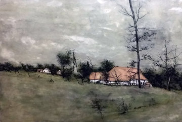 Untitled (Cottage) 1980 Limited Edition Print - Bernard Gantner