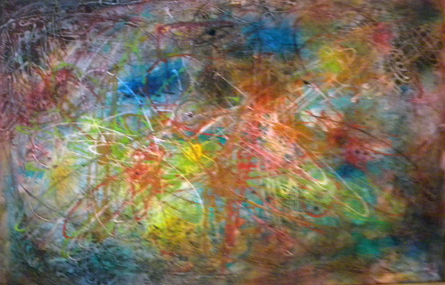 Untitled Eary Abstract Oil 1964 41x29
