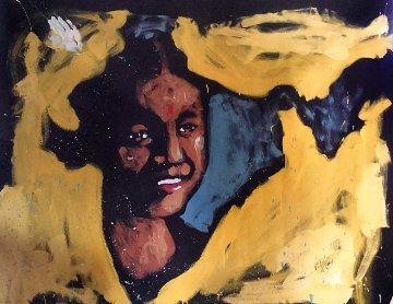 Girl in India 2007 60x72 Original Painting - David Garibaldi