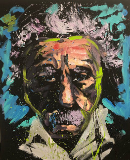Einstein 2013 66x55 Original Painting - David Garibaldi